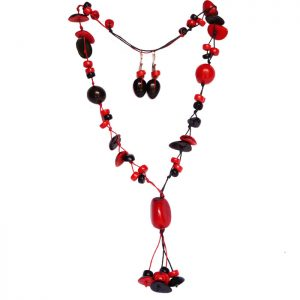 RED-BLACK NECKLACE