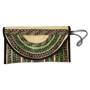 PARTY GREEN-BROWN PAJA TOQUILLA HANDBAG